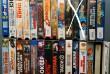 Видеокассеты с фильмами, музыкой.