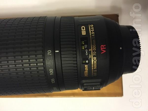 продается Объектив Nikon AF-S VR Zoom-Nikkor 70-300mm f/4,5-5,6G IF-E