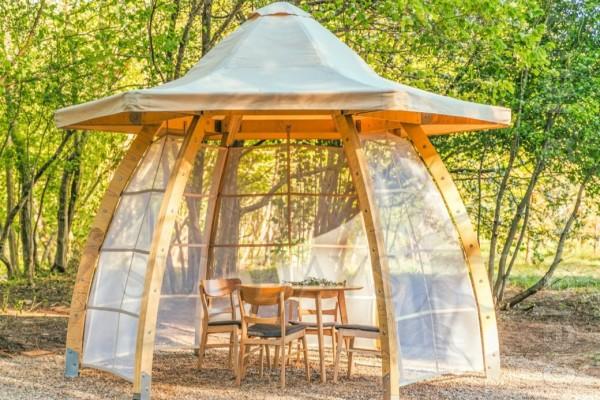 Компактная уютная новая Беседка для отдыха на свежем воздухе: Высота