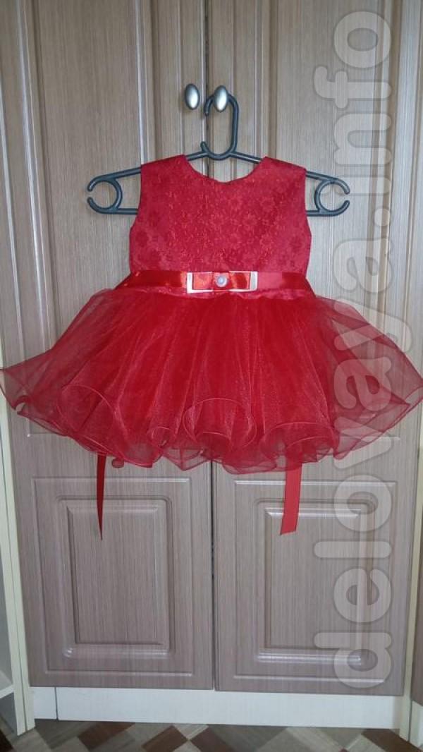 Новое платье Цвет: красный Длина 47 см Ширина от плеча до плеча 23 см