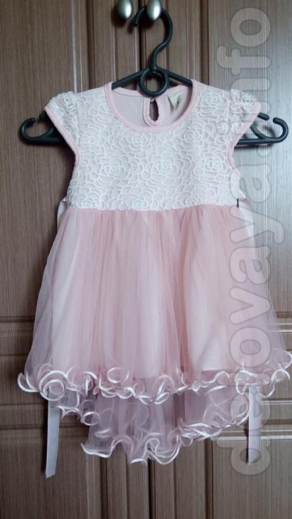 Новое платье На возраст 1-1.5 года Замеры Длина 44 см Ширина от плеча