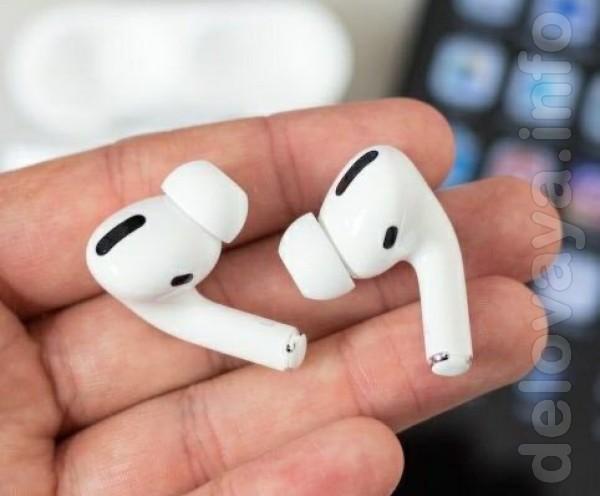 Наушники Apple AirPods PRO в беспроводном зарядном футляре полностью