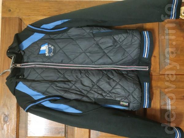 Осенняя куртка на мальчика. Флис+ плащевка, на подкладке. Длина 62 см