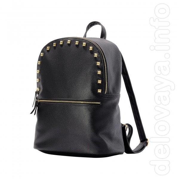Новый рюкзак Стильный и лёгкий рюкзак с отделкой из металлических зак