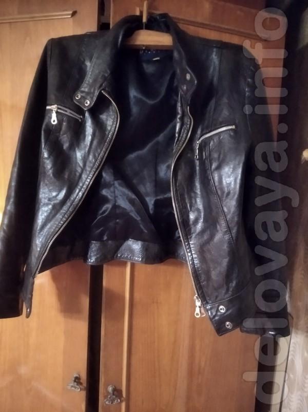 Продам кожаную куртку в хорошем состоянии, размер 44. Замеры по требо