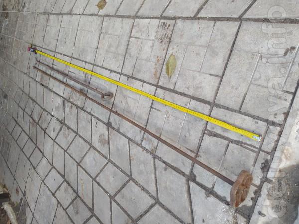 Вилка-прут,для перекрывания вентиля во дворе. длина 2,10 м,цена 130 г