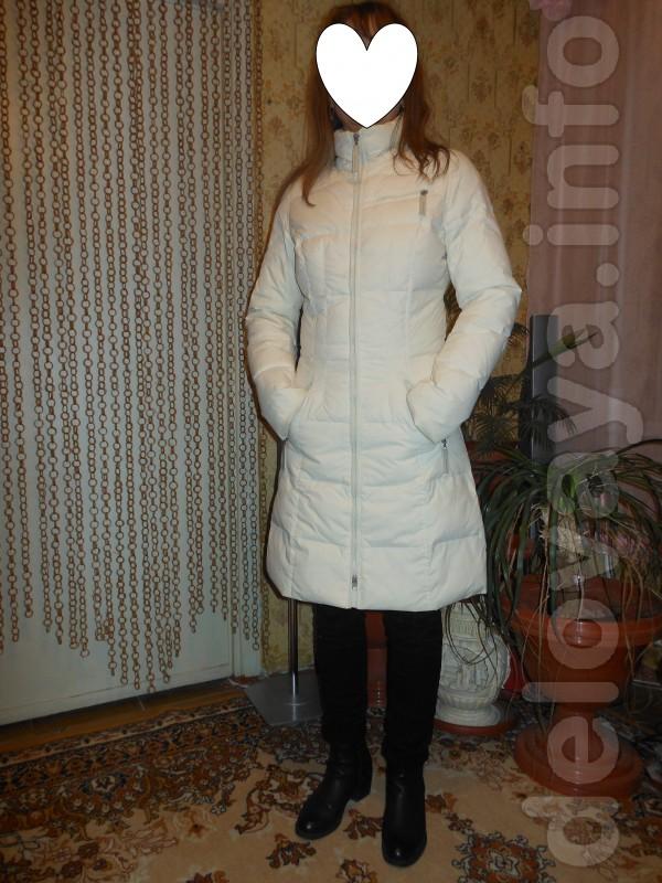 Автор: Юлия. Классный, Лёгкий и тёплый, зимний пуховик, молочного цве