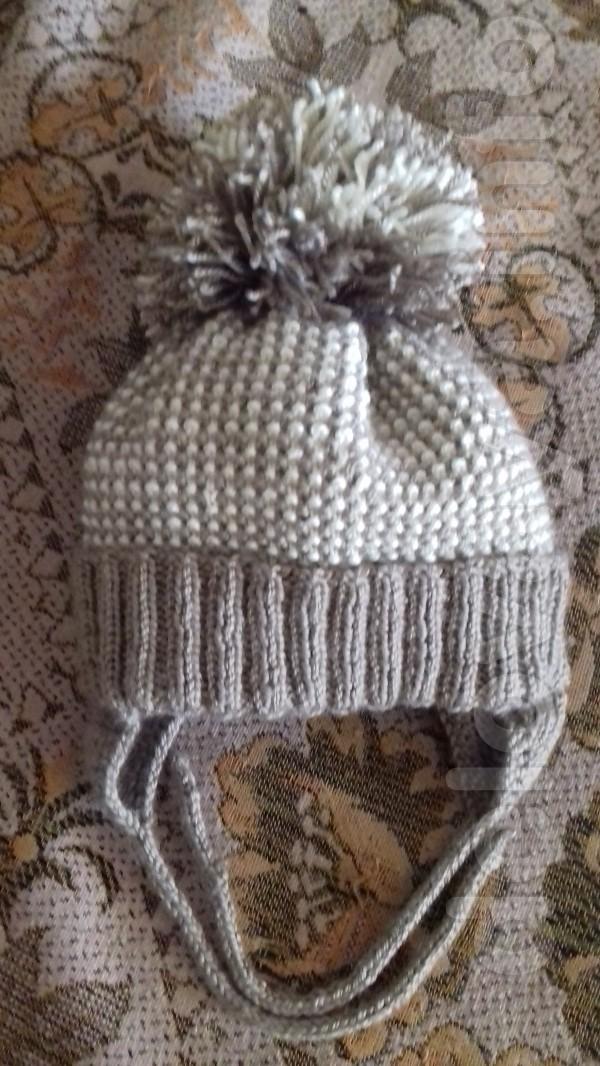 Продам детскую шапку ручной работы, очень тепла, на флисовой подкладк