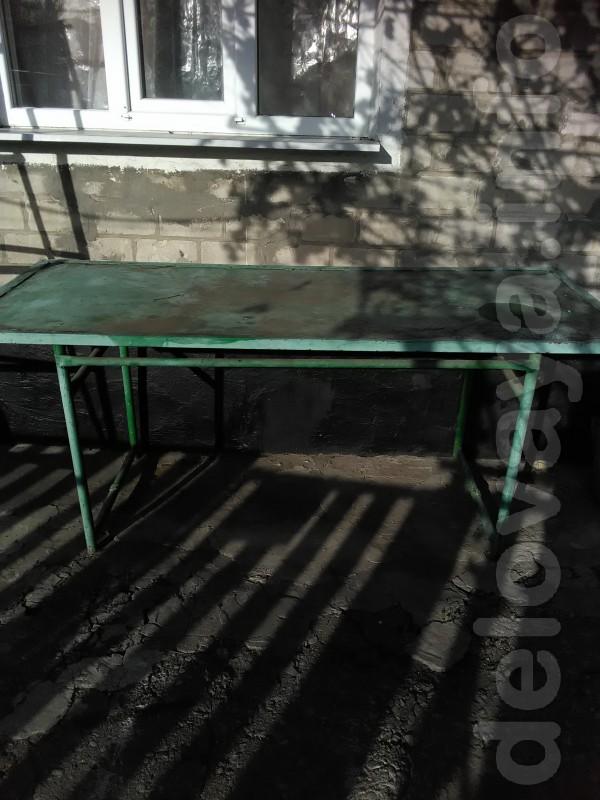 Продам стол металлический ширина 80 см длинна 2 м 2 см