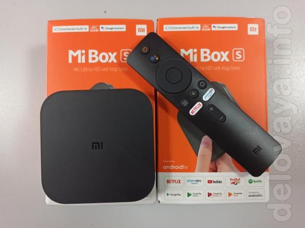 Продам Android Смарт Приставку Xiaomi Mi box S 2/8G с голосовым управ