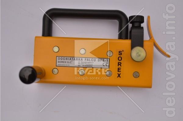 Профилирующая машина Sorex используется для довальцовки края листовой