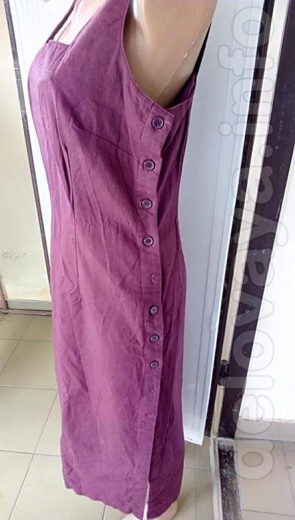 Льняной стильный сарафан   можно носить  с футболчкой пог 50 дл.112 п