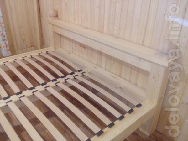 Кровать из дерева  под евро-матрас,1800-2000 ,в наличии 10 кроватей.