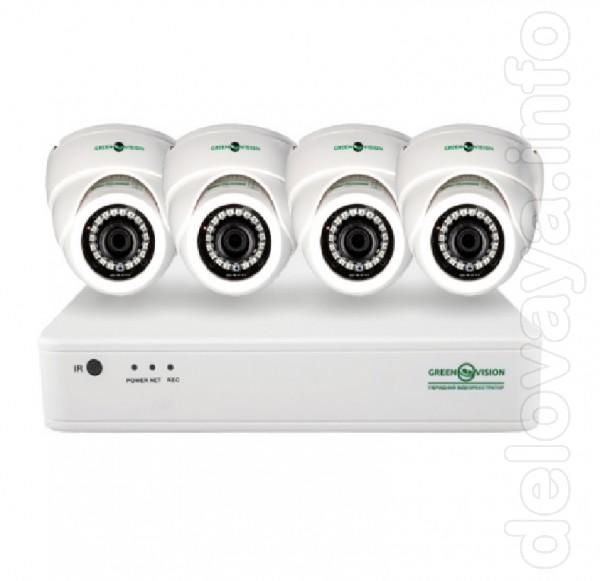 Ціна вказана за комплект відеонагляду на 4 камери по 2 МП, віддалений