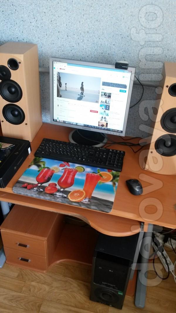 Компьютер в сборе ; (2- ядерный)   Ж/К-монитор  ,клавиат., мышь ,коло