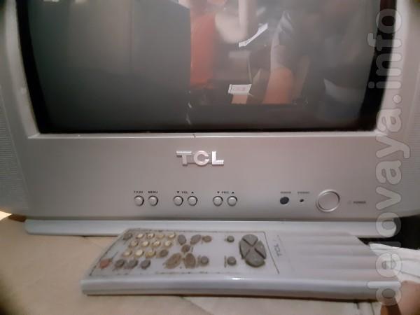 Телевизор ТСL 14' с пультом ДУ в нерабочем состоянии. 100 грн.