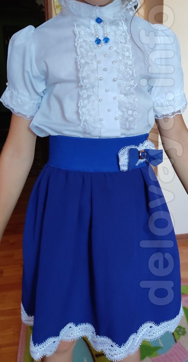 Продам школьный костюм для девочки 1-2 класса  /юбка, пиджак и блуза/