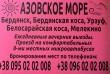 Бердянск, Бердянская коса, Урзуф, Белосарайская коса, Мелекино. Ежедн