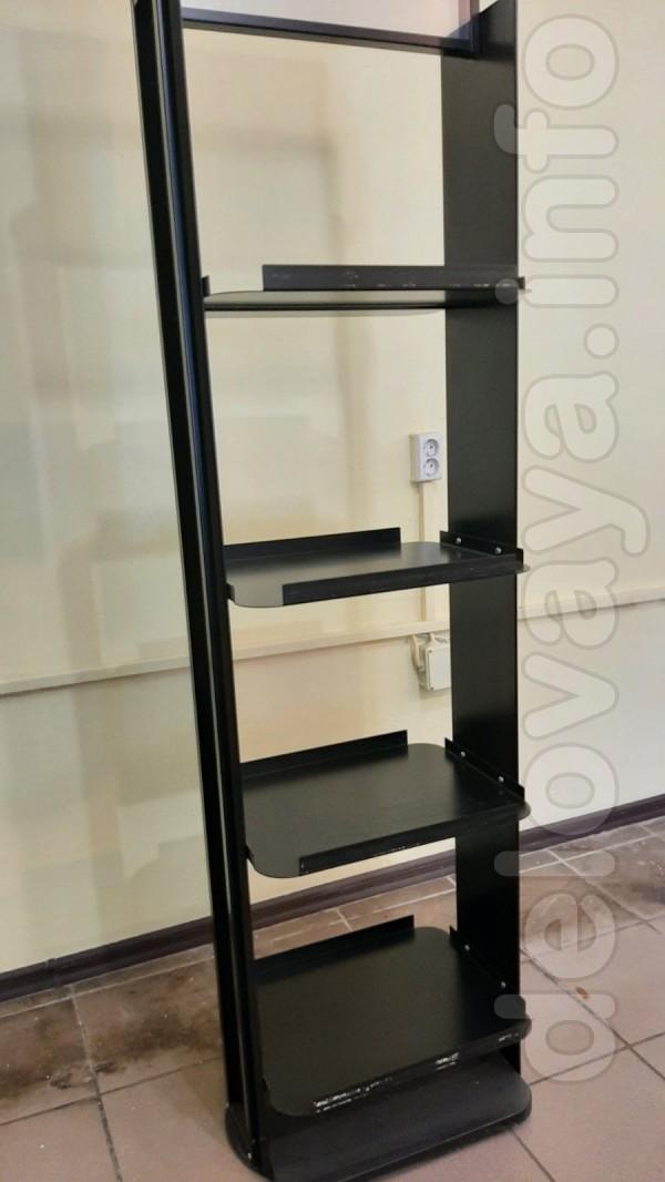 Продам торговые стеллажи б/у, усиленные - 2 метра белый (6 полок - 3