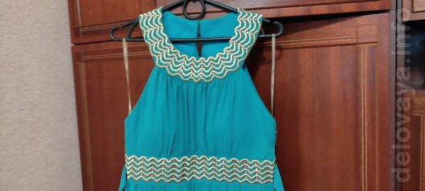 Продам вечернее платье в пол производства Турция, цвета морской волны