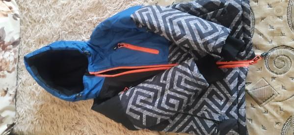 Зимняя куртка горнолыжная в хорошем состоянии б/у размер 116-122,штан