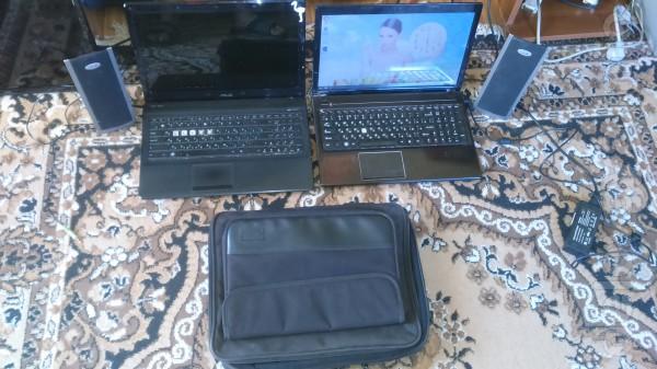 Ноутбуки 'ASUS' и 'Леново'  в норм.рабочем состоянии + сумка и колонк