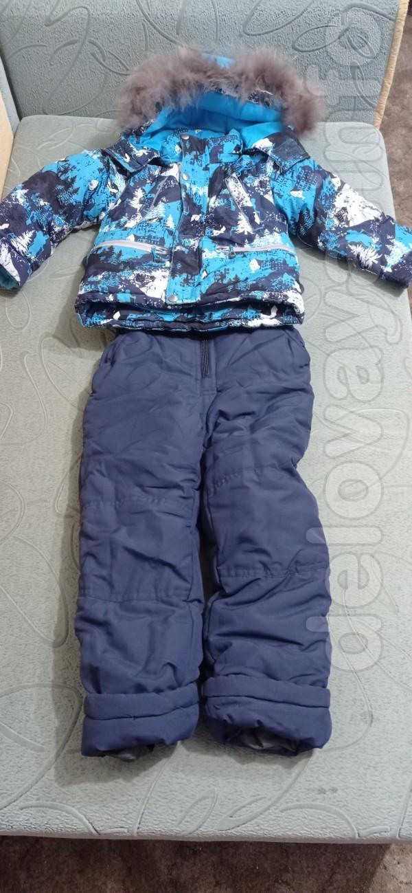 Продам классный очень теплый зимний костюм на мальчика.4-5лет