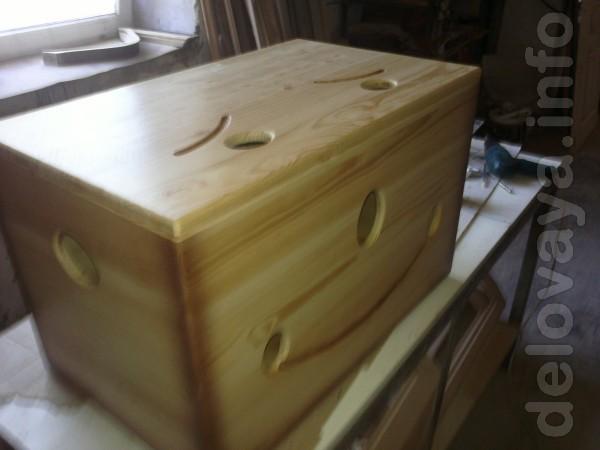 Ящик для игрушек из натурального дерева будет полезным и красивым доп