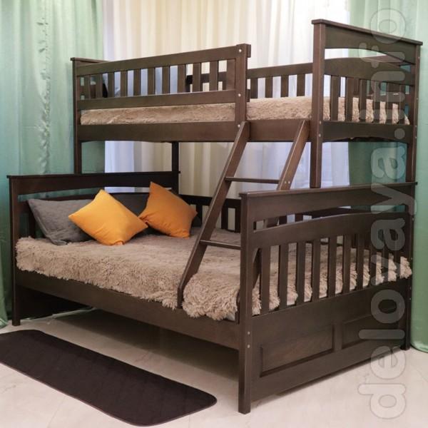 Кровать 'Чердак' Горка из дерева от Aika.at.ua Кровать - чердак с по