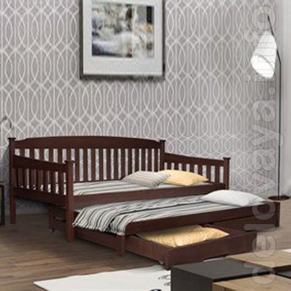 Кровати односпальные из натурального дерева от Aika.at.ua Кровати из