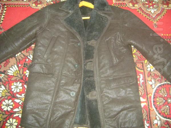 Дубленка мужская искусственная,цвет коричневый, размер примерно 54 (н