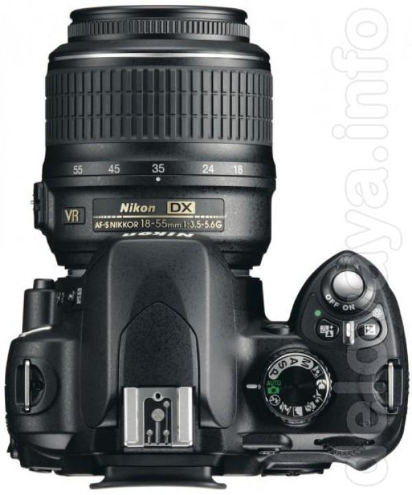 Зеркальный фотоаппарат Nikon D60(б/у) + объектив Nikon DX AF-S Nikkor