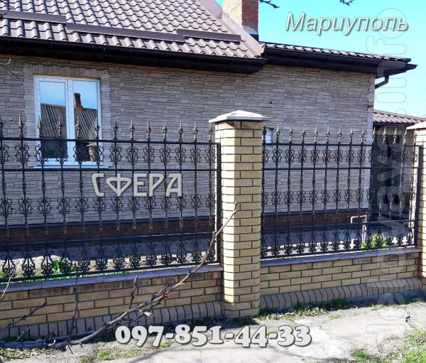 Компания «Сфера» предлагает свои услуги по изготовлению кованых забор