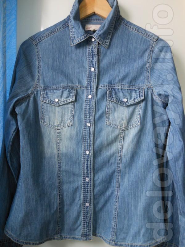 Фирменная джинсовая рубашка, хорошего качества, в очень хорошем состо