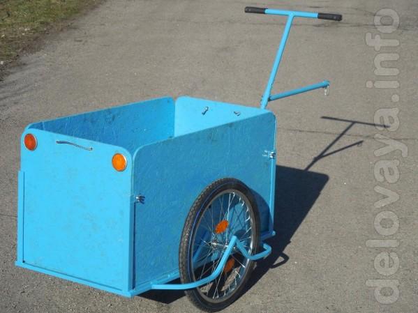 Грузовая тележка, вело прицеп универсальный с увеличенным кузовом «Ве