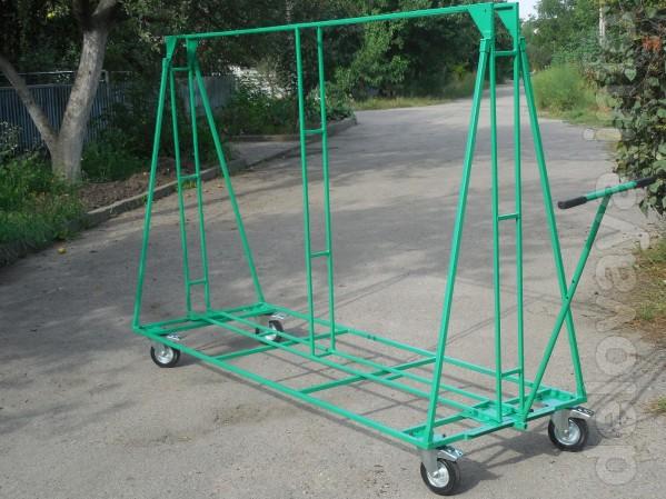 Транспортная тележка для размещения и транспортировки рекламного банн