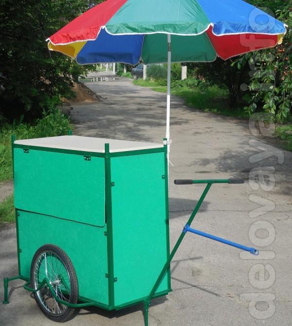 Транспортная тележка прицеп к велосипеду, мопеду, скутеру для выездно
