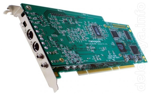 Спецификация Canopus edius NX for HDV: Интерфейс PCI 64-bit Цифровой