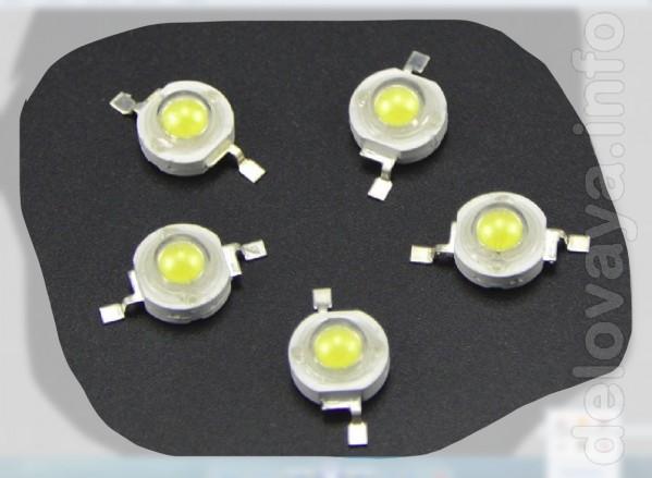 Светодиоды 1 Вт для ремонта фонарей и монтажа систем освещения. Свет