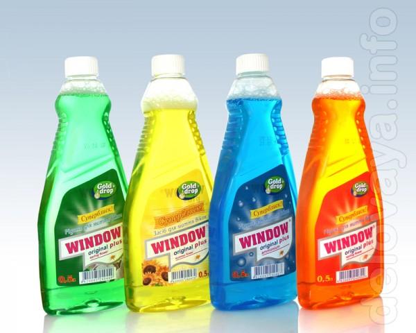 - Средство для мытья окон Window Plus синий с распылителем 0,75 л. –