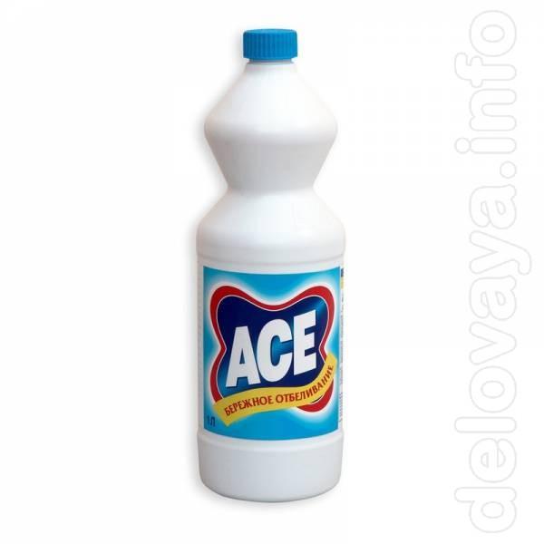 - ACE отбеливатель жидкий Regular 1 л. – 27.24 грн. бутылка. - ACE от
