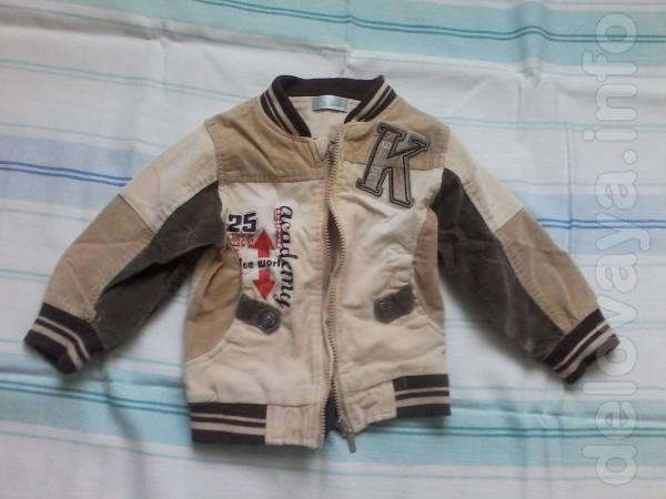 Продам детскую куртку на мальчика от 3-х до 5-ти лет.Материал вельвет