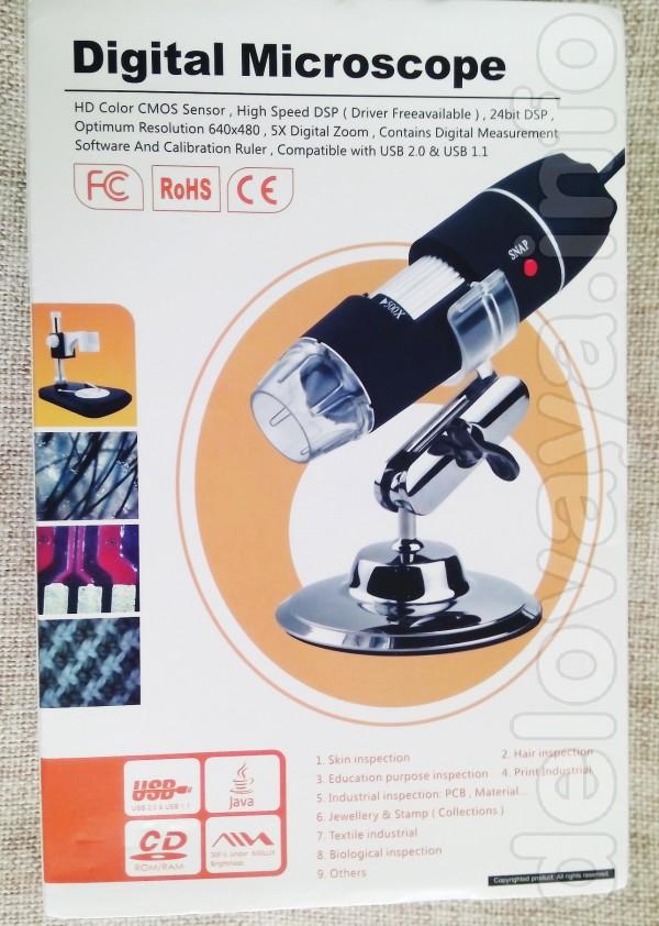 Микроскоп оснащен видео выходом (с помощью USB кабеля). Вы можете пол