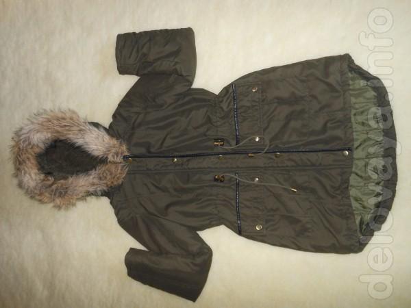 Куртка парка на синтепоне, с капюшоном, размер -44- 46, в  хорошем со