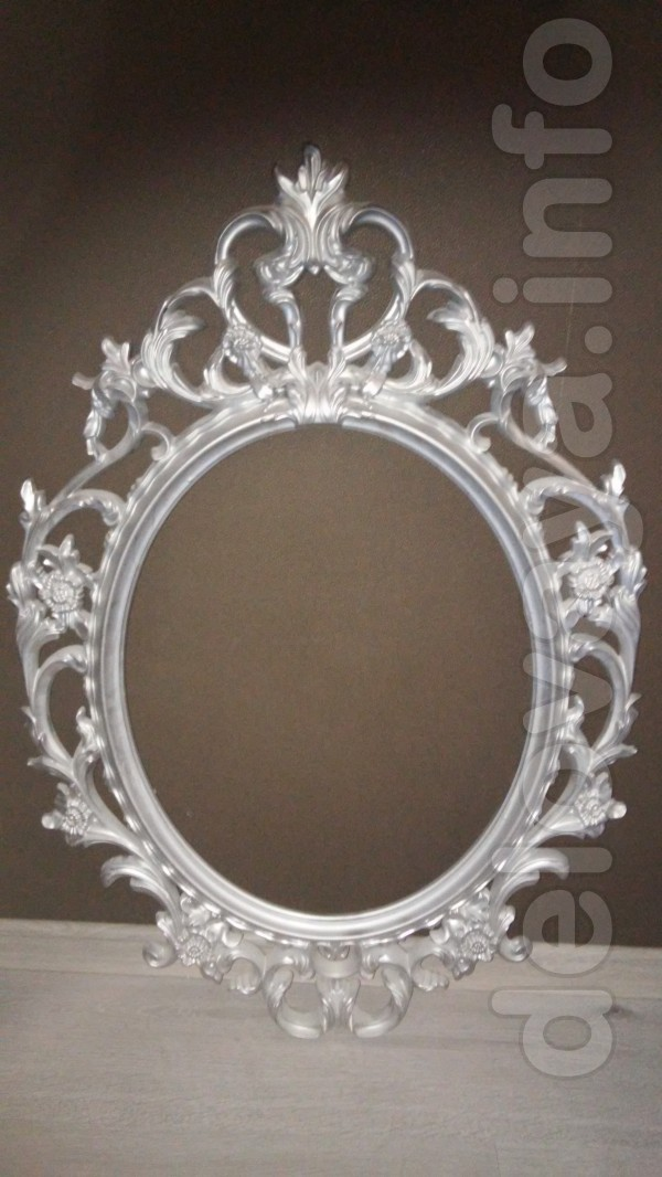 Раму для зеркала, овальная, дизайн от 'Ikea', цв. 'серебро', выс. 86