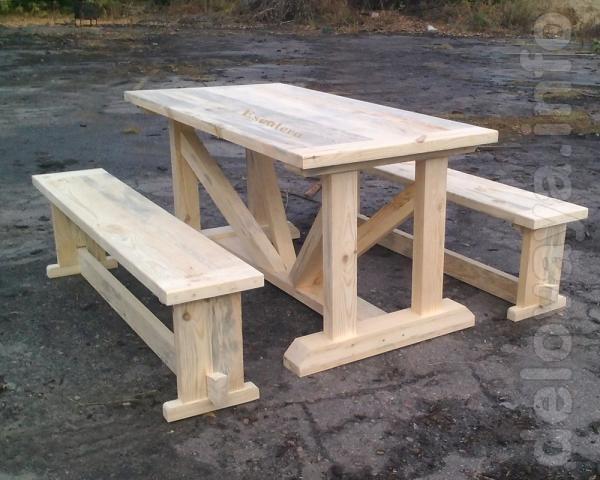 Садовый комплект. Можно приобрести по отдельности скамейки и стол, а
