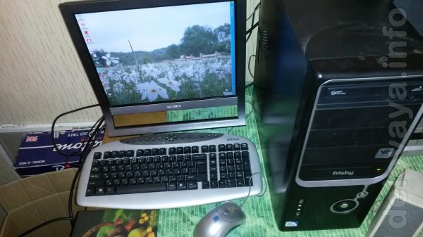 Компьютеры в сборе (4-комплекта) -1-2-х ядерные с Ж/К и ЭЛТ мониторам