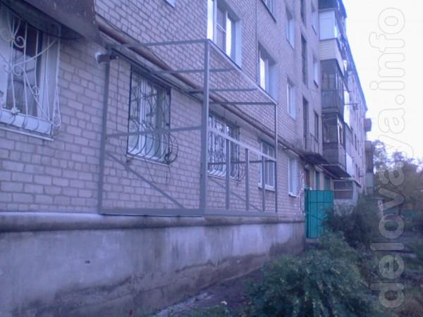 Благоустройство балконов 'под ключ'. М/пластик, дерев. рамы, окна, дв