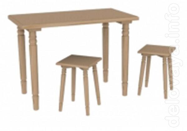 Продаётся стол деревянный из сосны срощенный на микрошип, внешне лаки