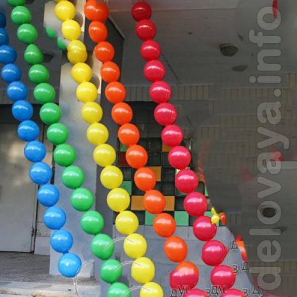 Гирлянда из маленьких шариков своими руками 3
